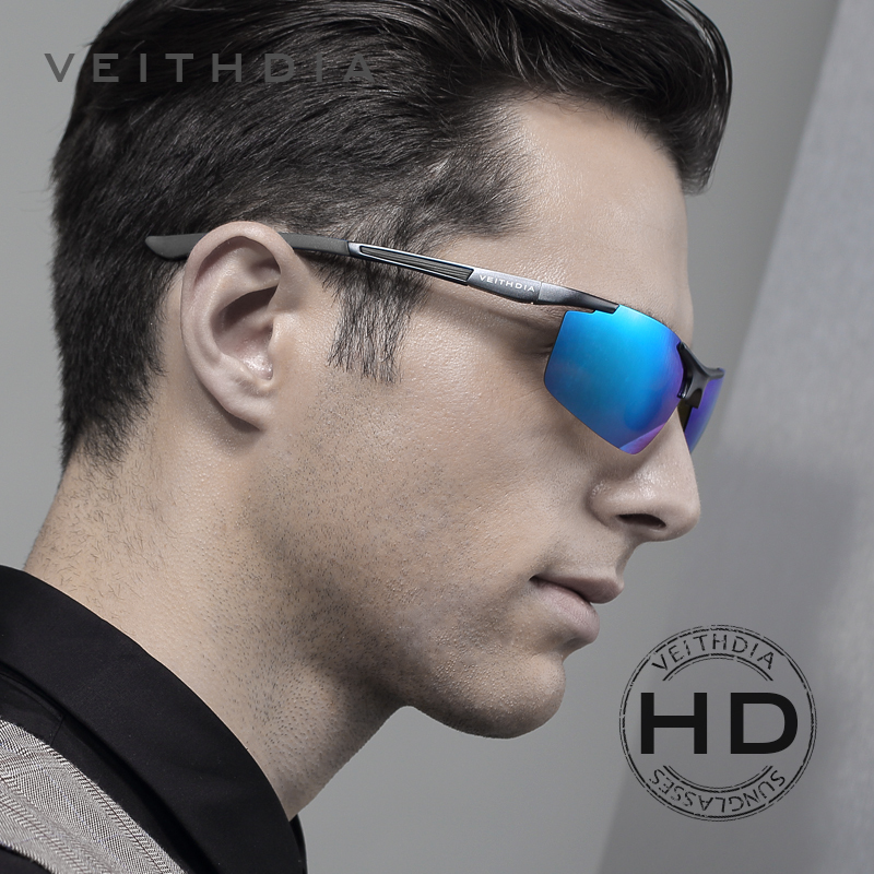 944c632871 VEITHDIA Aluminum Magnesium Men s Sunglasses Polarized Coating Mirror  SunGlasses