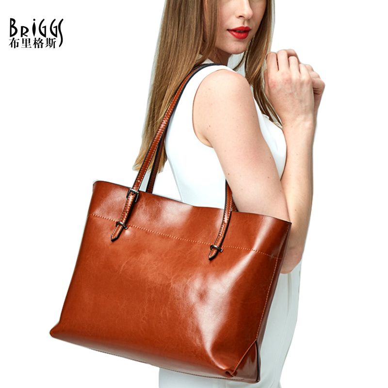 31ea947c79 Casual Tote Bag Women s Genuine Leather Handbags Female Messenger Bag Ladies  Cross Body Bags