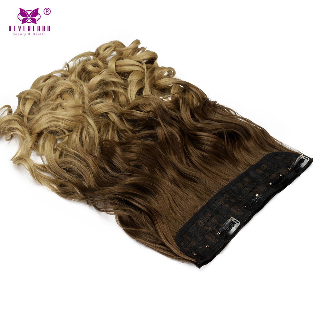 Neverland 24inch 60cm Wavy Synthetic Hair Clip In Hair Extensions