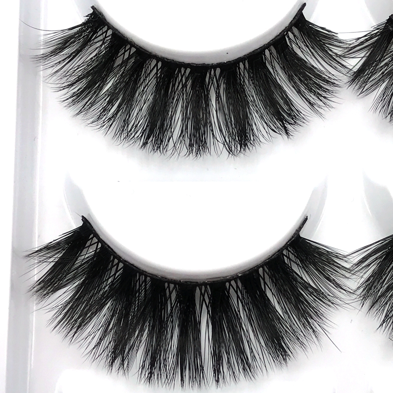 New 5 Pairs Natural False Eyelashes Thick 3d Mink Lashes Long Black
