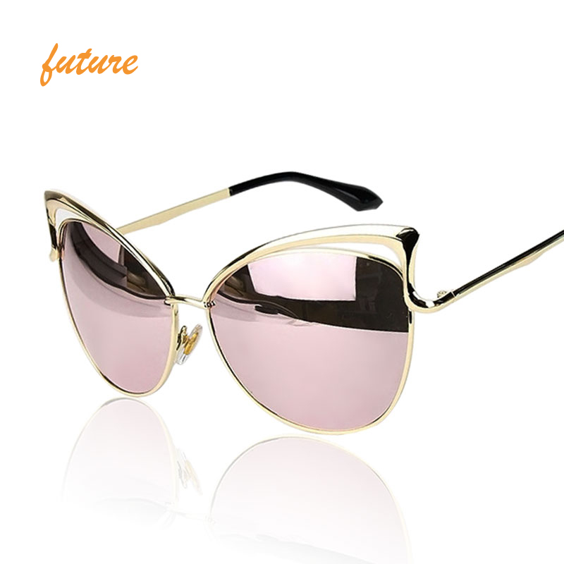 12b5fbd01ac New Fashion Cat Eye luxury Sunglasses 2017 Women Brand Designer Twin-Beam  Mirror Men Sun Glasses Vintage Female