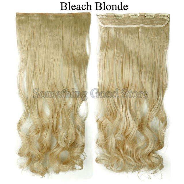 Snoilite 17inch Women Curly Hairpiece 5 Clips In Hair Extensions