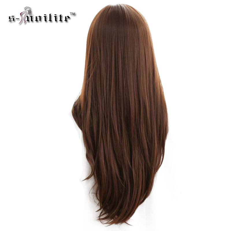 Snoilite Double Weft 24inch Straight 18 Clips In Hair Extensions