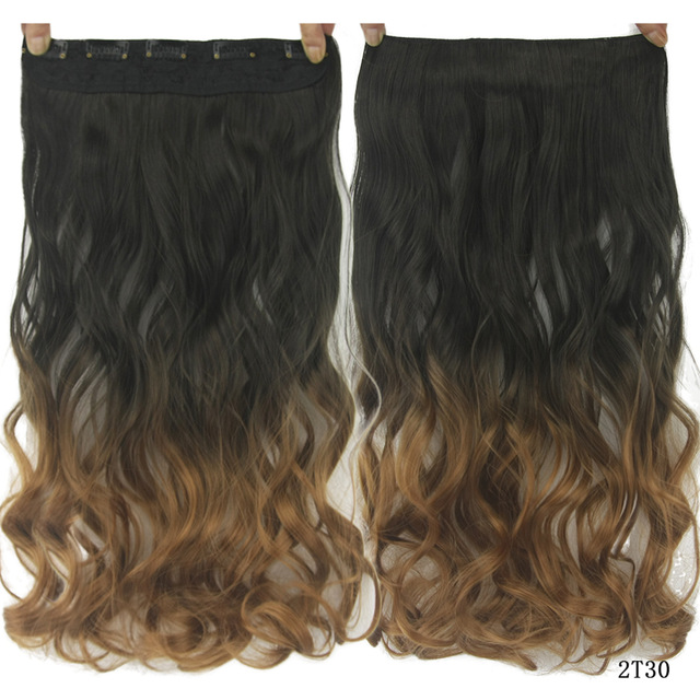 Hair Clip In Hair Extension Heat Resistant Hairpiece Natural Wavy