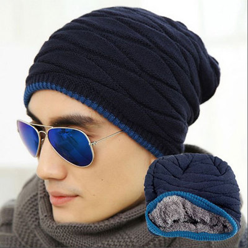Unisex Beanie Winter Hats Cap Men Women Stocking Hat Beanies stripe Knitted Hiphop  Hat male Female Warm wool Cap  9bf80769bc4