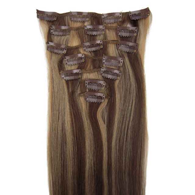 Non Remy Hair 7 Piece Set 16 Clip In Human Hair Extensions 22 Colors
