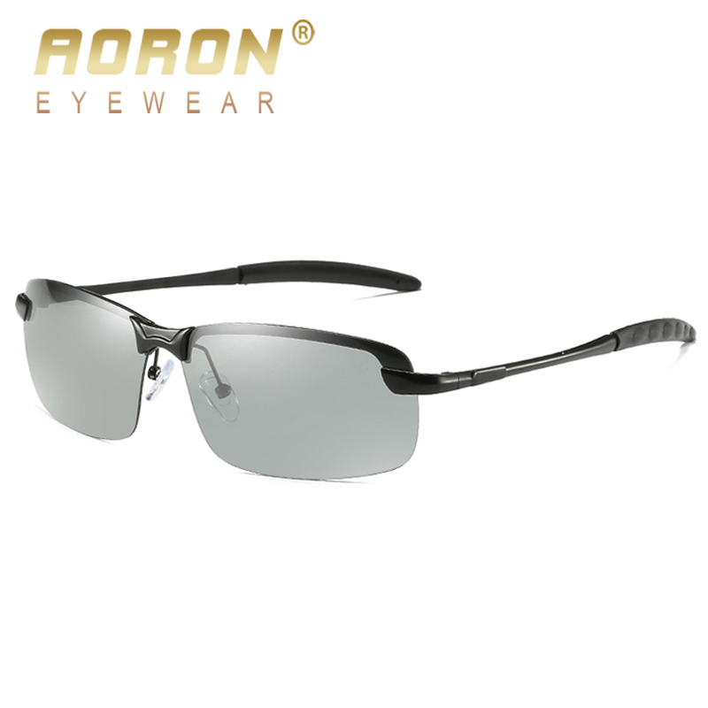 53106c2afa92 AORON 2018 Photochromic Polarized Sunglasses Women Men Brandd Design ...