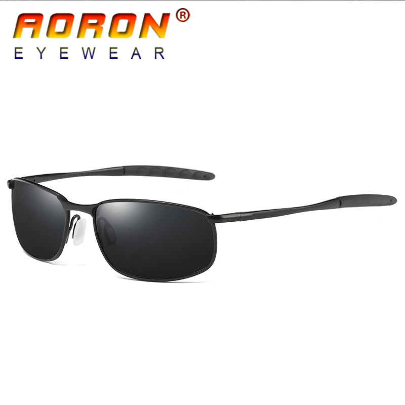 0755480ccaa AORON Brand Designer Original Polarized Sunglasses Goggles Men Designer  Mirror Glasses oculos de sol Eyewear Accessories