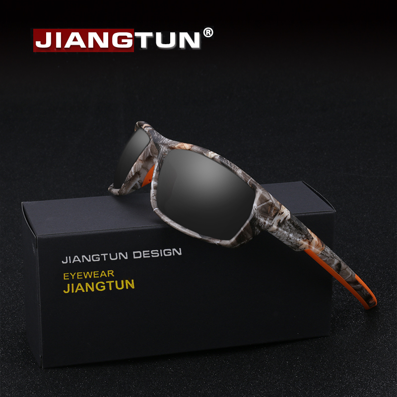 4b5cdb9b85 JIANGTUN Hot Trendy Camo Black Polarized Sunglasses Men Women Brand Designer  Sports Sun Glasses UV400 ...