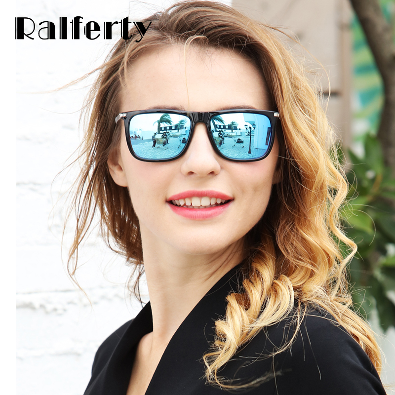 4db849d3ce Ralferty Vintage Square Sunglasses Men Women Polarized Aluminum ...