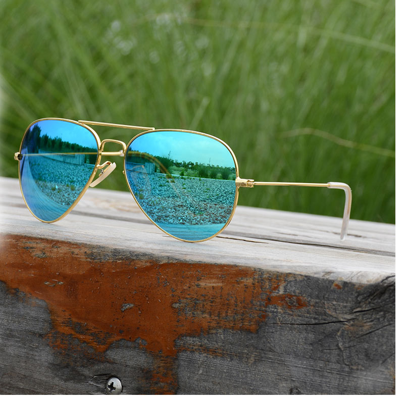 48d7486ca44d Super light Luxury sunglasses Men Polarized women Large frame Anti-glare  aviator sun glasses 62mm famous rays retro Mirror blue