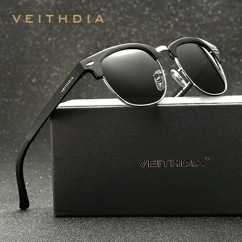 3598c3fe6 VEITHDIA Retro Unisex Aluminum Magnesium Mens Sunglasses Polarized Vintage  Eyewear Accessories Sun Glasses For Men Women 6690