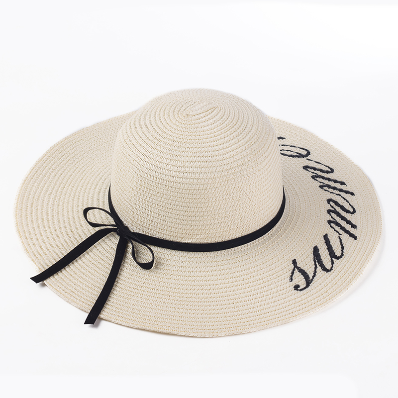 2b737c6e77d 2016 Summer Women Sun Hat Ladies Wide Brim Straw Hats Outdoor Foldable Beach  Panama Hats Church ...