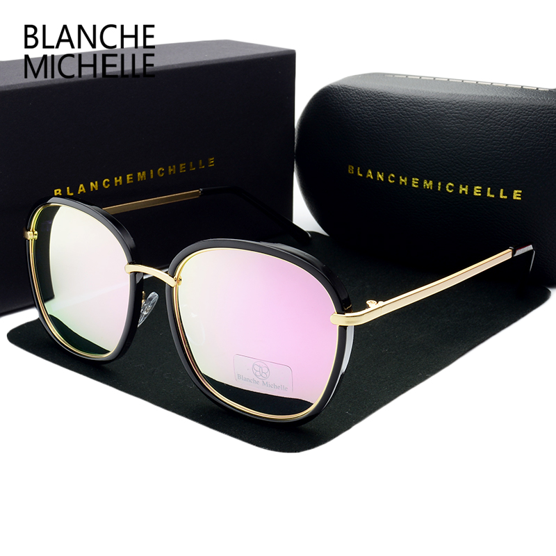 8372d1fdd19 ... 2018 High Quality Square Gold Frame Polarized Sunglasses Women Brand