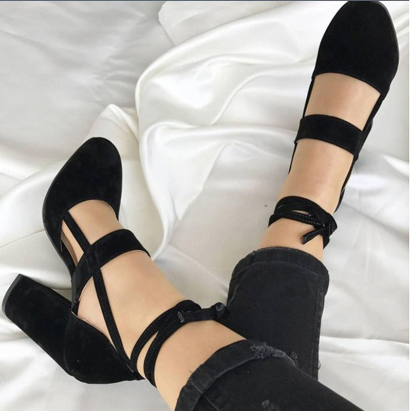 2018 New Women Pumps High Heel Summer Party Heels Solid Shoes Fashion ...