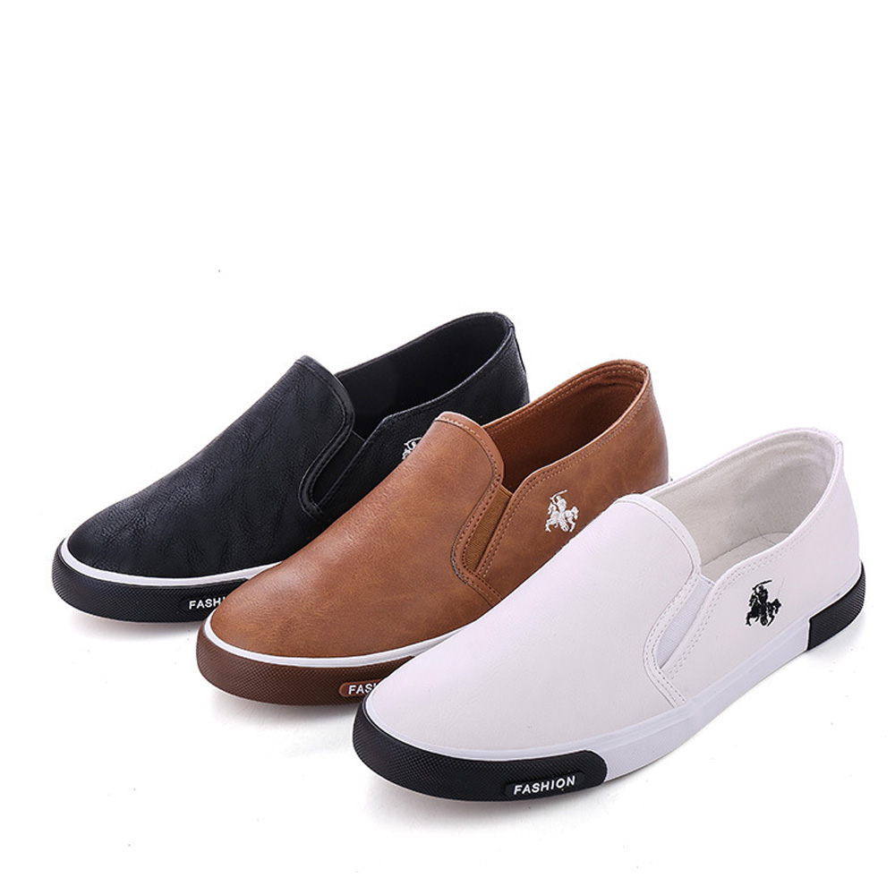 07629d4e15b New 2018 Fashion Mens Shoes Outdoor Men loafers Walking Shoes Black ...