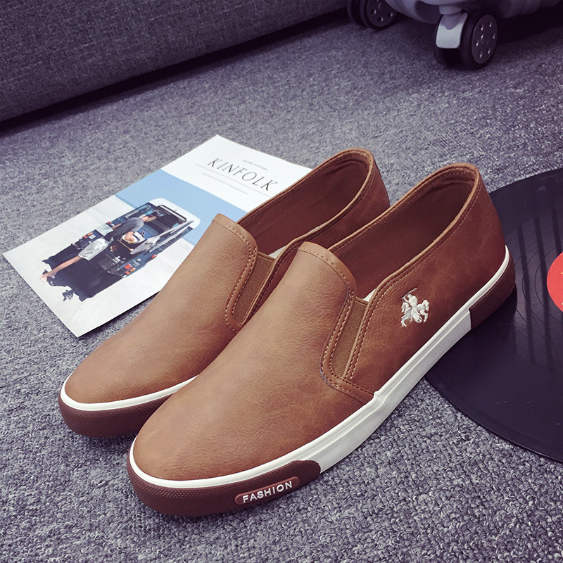 New 2018 Fashion Mens Shoes Outdoor Men loafers Walking Shoes Black ... e3dabdf20f53