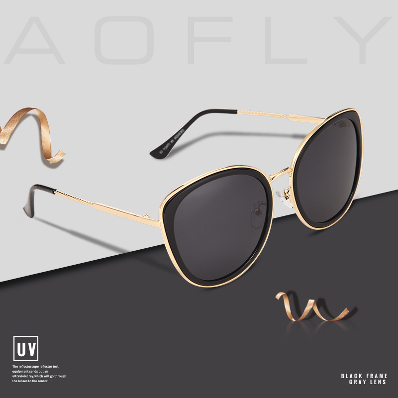 4fe92c47c4a AOFLY BRAND DESIGN 2018 New Fashion Cat Eye Sunglasses Gradient Lens  Polarized ...