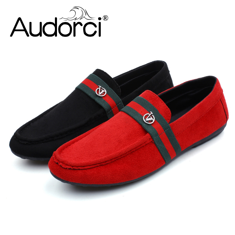 Homme Flats Men's 44 Audorci Size 2018 Male Light Man Boat 39 On Casual Peas Shoes Chaussure Shoe 2color Slip qUpSzVMG