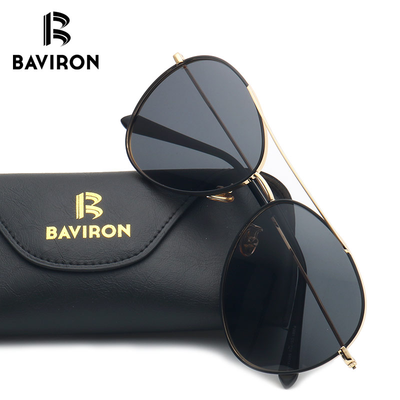 ad04d12005 BAVIRON Vintage Polarized Aviator Sunglasses Women Man Colorful ...