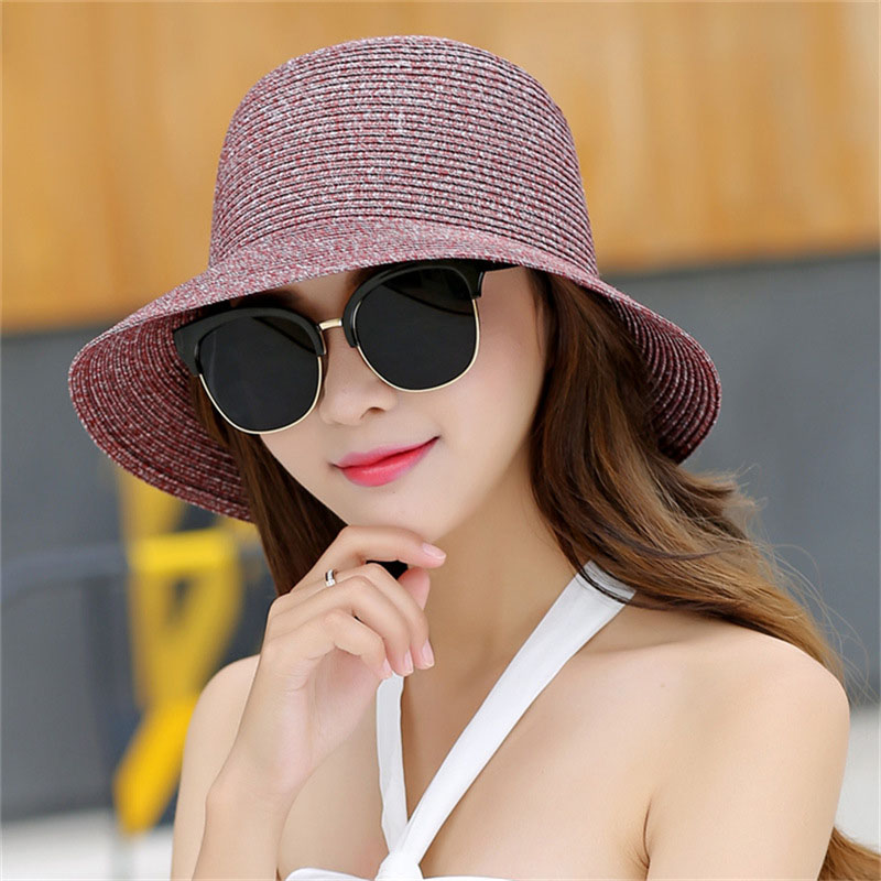 EXILIENS  2017 New Lady Fashion Summer Brand Women s Sun Hats Woman ... d0b633ca0605