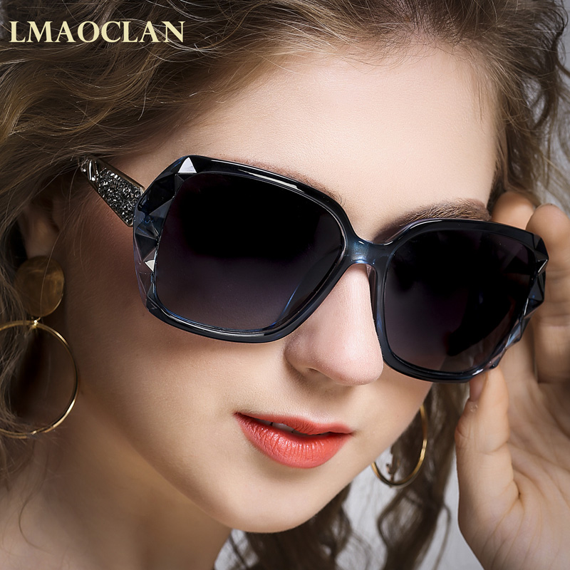3e0fccbc2 LMAOCLAN Brand Luxury Design HD Polarized Sunglasses Women Ladies Oversized Sun  Glasses Female ...
