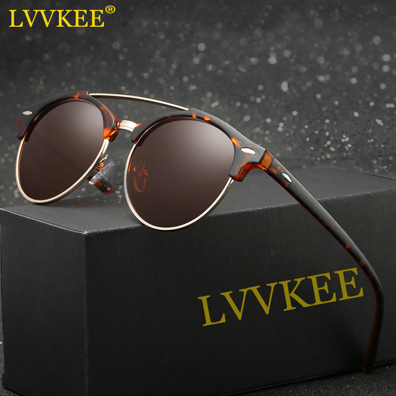 fb8e3c4c0f9d LVVKEE 2018 Latest Styles Half Frame Polarized Sunglasses Women/Men Classic Mirror  Sun glasses ...
