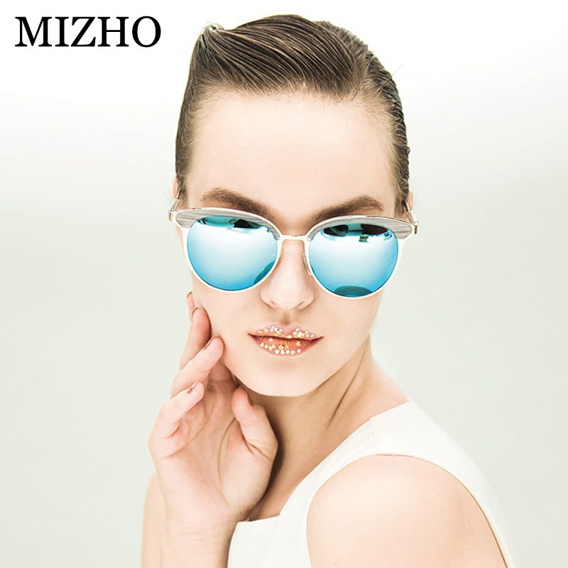 33552a6ab6 MIZHO Vidrio Metal Star Polarized Sunglasses Women Cat eye Vintage ...