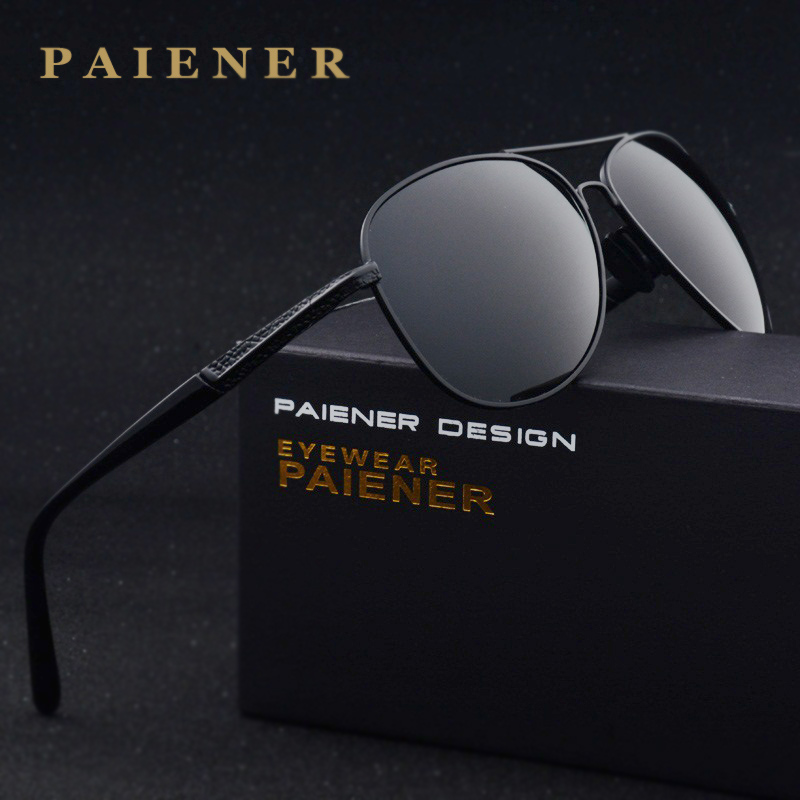 dc8a16c6c087 PAIENER Brand Polarizerd Sunglasses Men women Sports Glass Driving ...