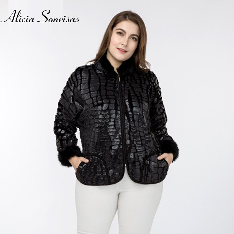 986b854f37364 Plus Size 3XL 4XL 5XL Women Jacket New 2018 Spring Zipper Fur Sleeve ...