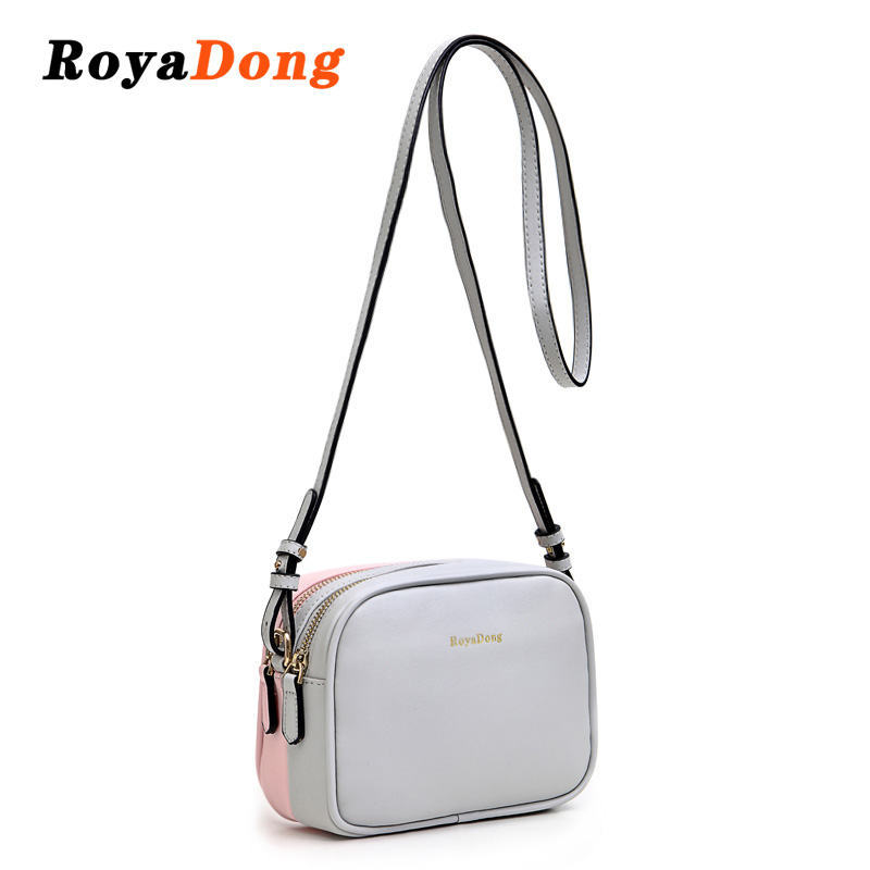 0fa5d42876bf RoyaDong Brand 2018 New Pu Leather Flap Women Messenger Bags Double ...