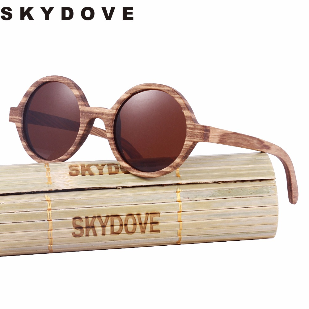 Bamboo Zebra Sunglasses Wood 2018 Vintage Skydove Kids Polarized Round Wooden Men Women m0vNw8nO