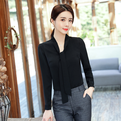 021f65d929 Spring Summer elegant long sleeve blouses women OL career collar chiffon  shirts tops ladies office business plus size work wear