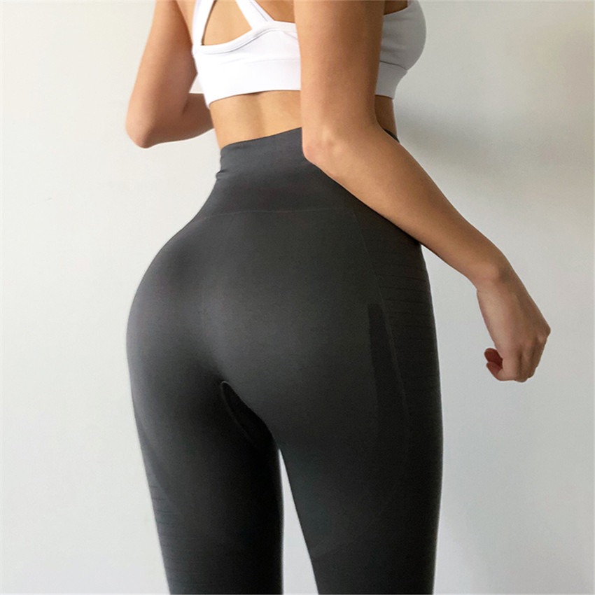 52ad09c40c Women's Butt Lift Sport Leggings Hollow Out Fitness Gym Leggings Seamless  Slim Compression Squat Tights High Waist ...