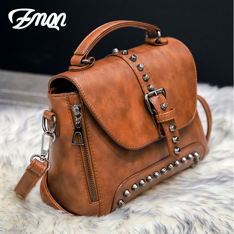4dbe2f09e6 ZMQN Women Messenger Bags Bolsas Feminina Crossbody Bags For Women Shoulder  Vintage Bag Rivet Small Handbags ...
