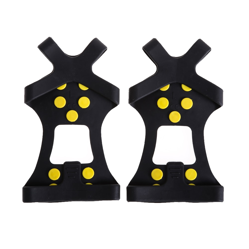 Universal Ice Snow Hiking Climbing Shoe Spikes Grips Cleats Crampons 10-Stud UK