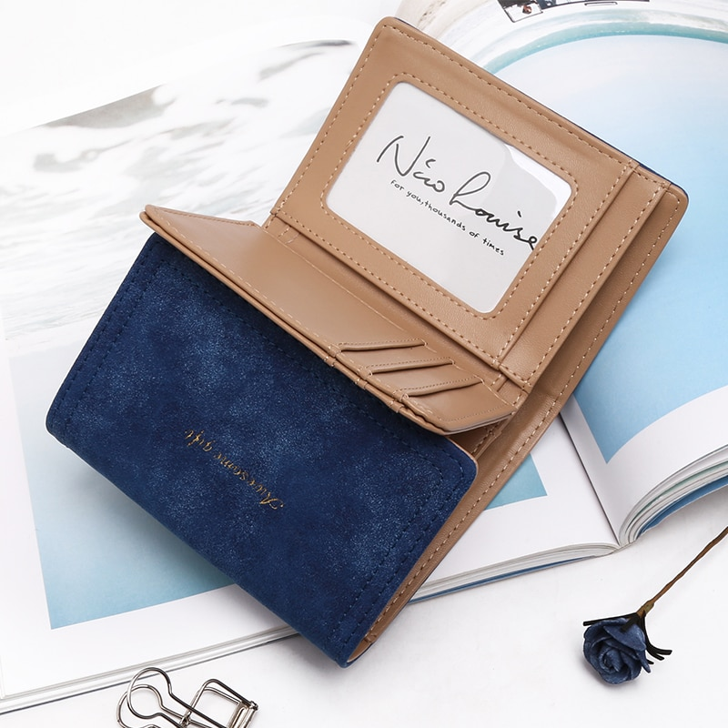 d62b21b24549 Latest Christmas Deer Women Leather Wallet VintageTri-Folds Luxury Cash  Purse Girl Small Black Clutch coin purses holders