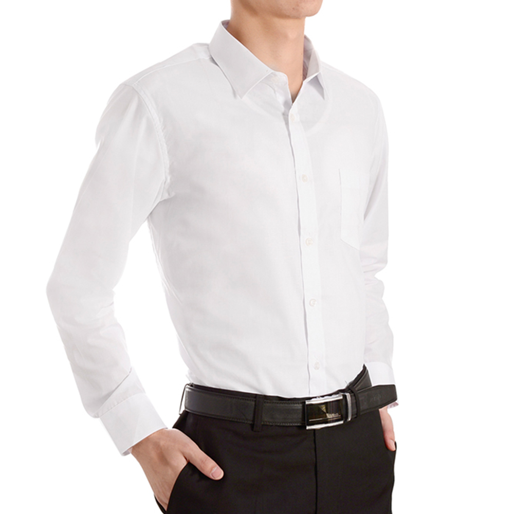 New Spring And Autumn Fashion Mens Work Shirts Brand Long Sleeve
