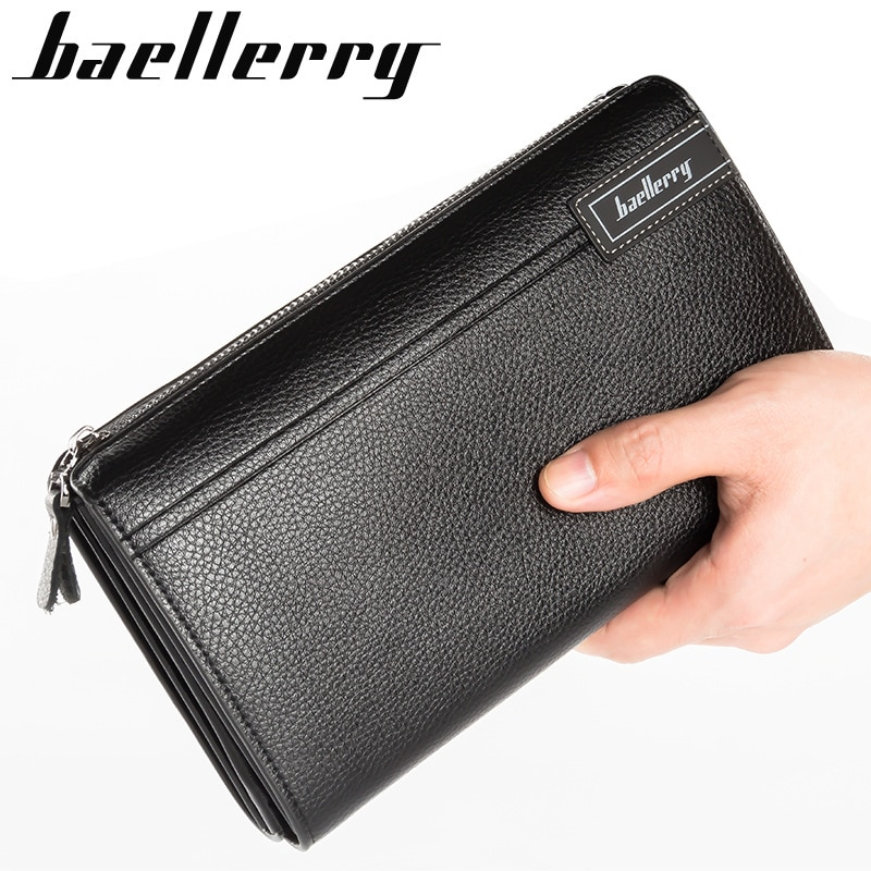 73a449bf4c48 Luxury Wallets With Coin Pocket Long Zipper Coin Purse for Men Clutch Business  Male Wallet Double ...