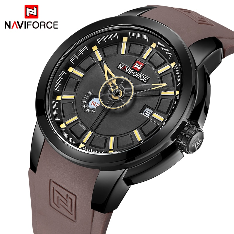 23d6cdb8a9d Mens Watches Top Luxury Brand NAVIFORCE Men Unique Sports Watch Men s  Quartz Date Clock Waterproof Wrist Watch Relogio Masculino