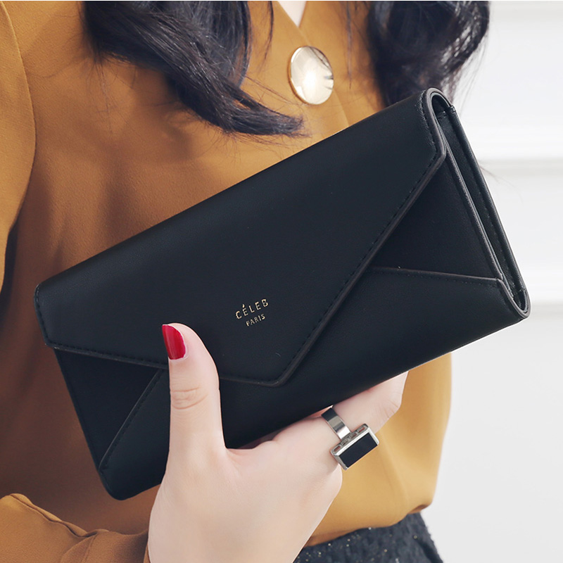 3a600960460b New Style Envelope Designer Clutch Wallets For Women Hasp Pocket To ...