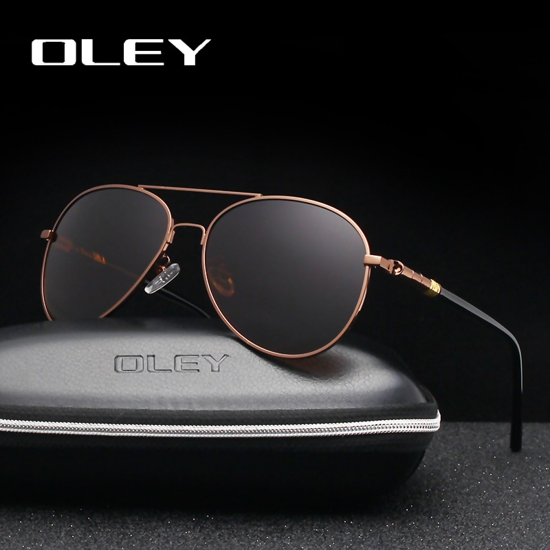 28663b0eee6 OLEY Brand Classic Pilot Polarized Sunglasses Fashion Retro Men Business  Glasses Beach UV Protection ...