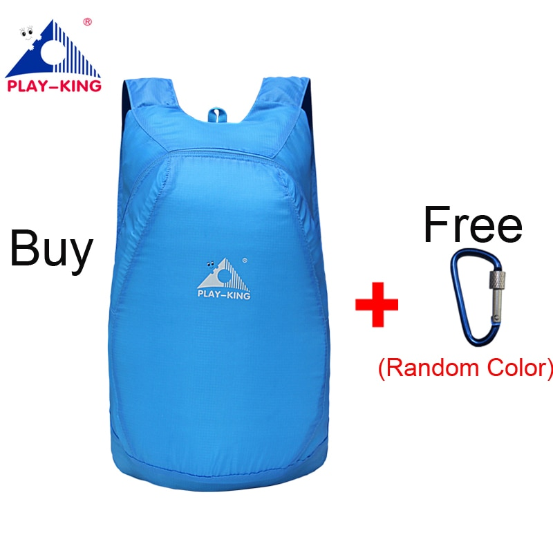 PLAYKING Lightweight Nylon Foldable Backpack Waterproof Backpack Folding bag  Ultralight Outdoor ... 722244a3cc118