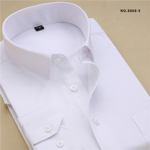 Recommend 8xl 2018 Twill Solid Long Sleeve Business Men