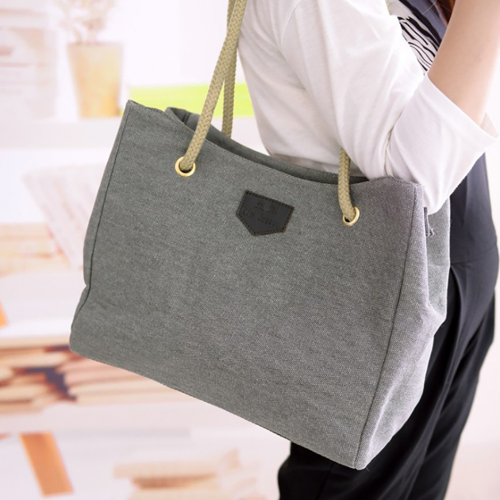 5a30d147a640 xiniu New Women Hangbags Canvas Big Bag Trend Simple Large Capacity  Shopping Bag Shoulder ...