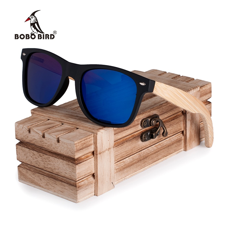 bb789b347d2 BOBO BIRD Wood Sun Glasses Bamboo Legs Polarized Lens Cool Sun ...