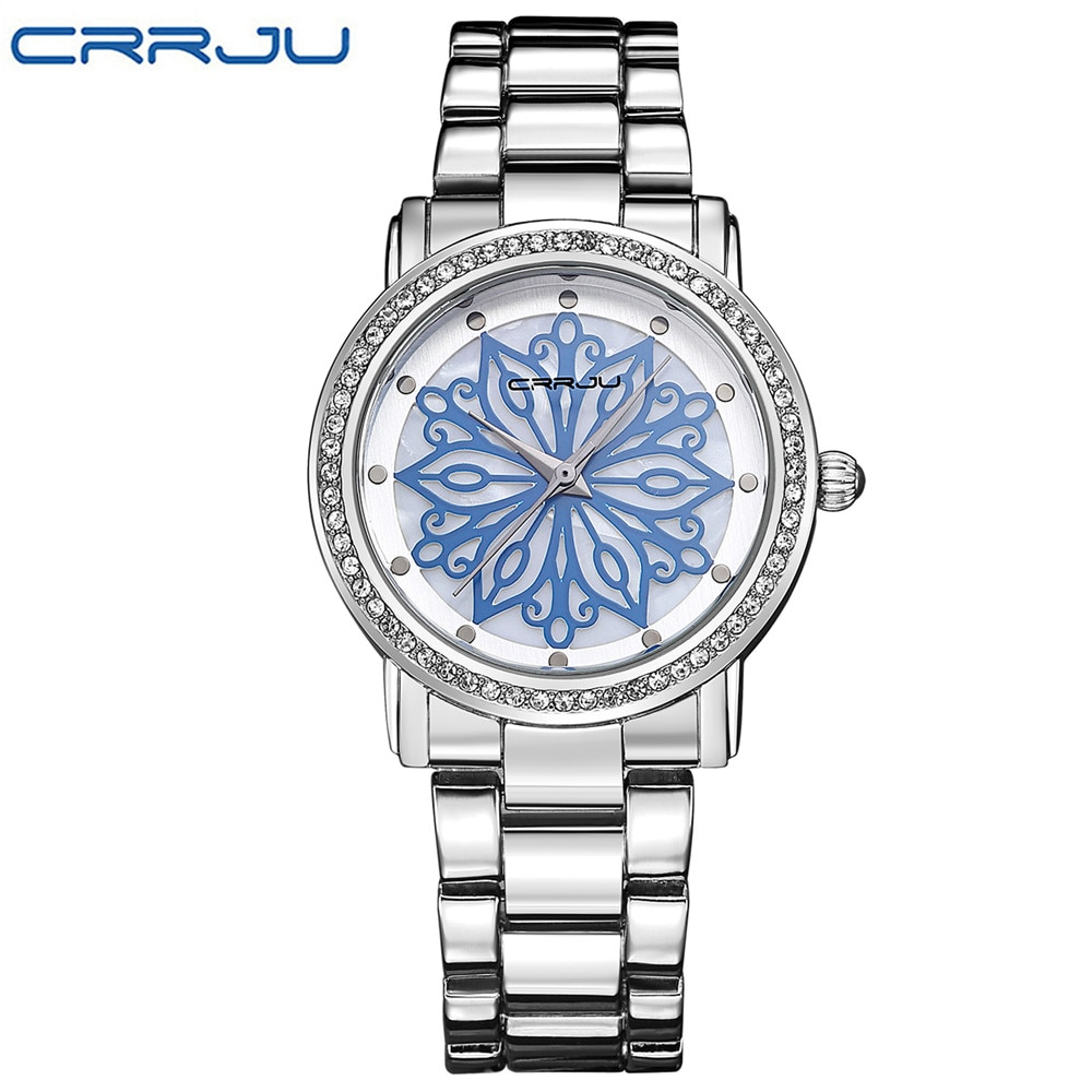 a3aaae959 CRRJU luxury Dress Brand Fashion Watch Woman Ladies Rose gold ...