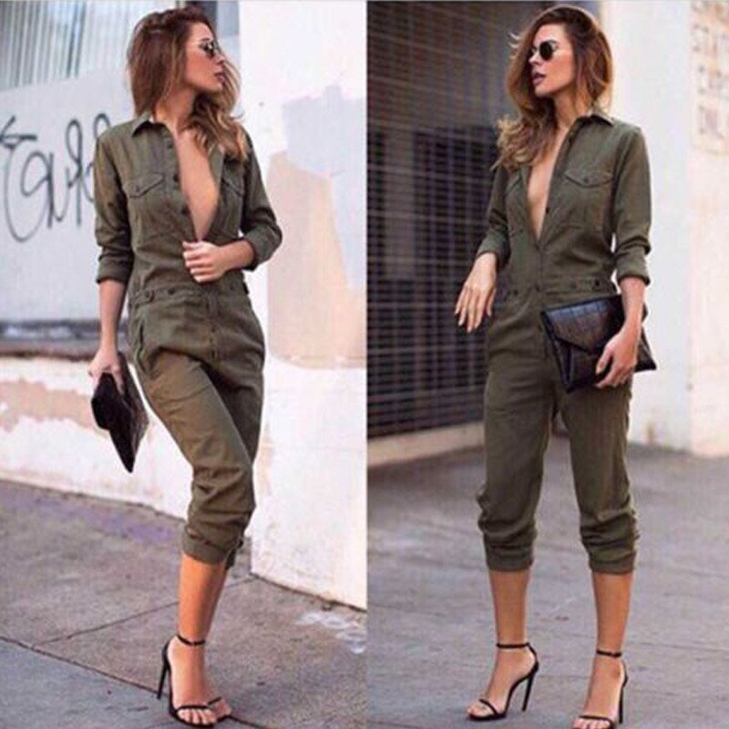 891ab0d71209 Hot New New Fashion Fomal Women Sex V-collar Clubwear Summer Playsuit  Bodycon Party Jumpsuit Romper Trousers