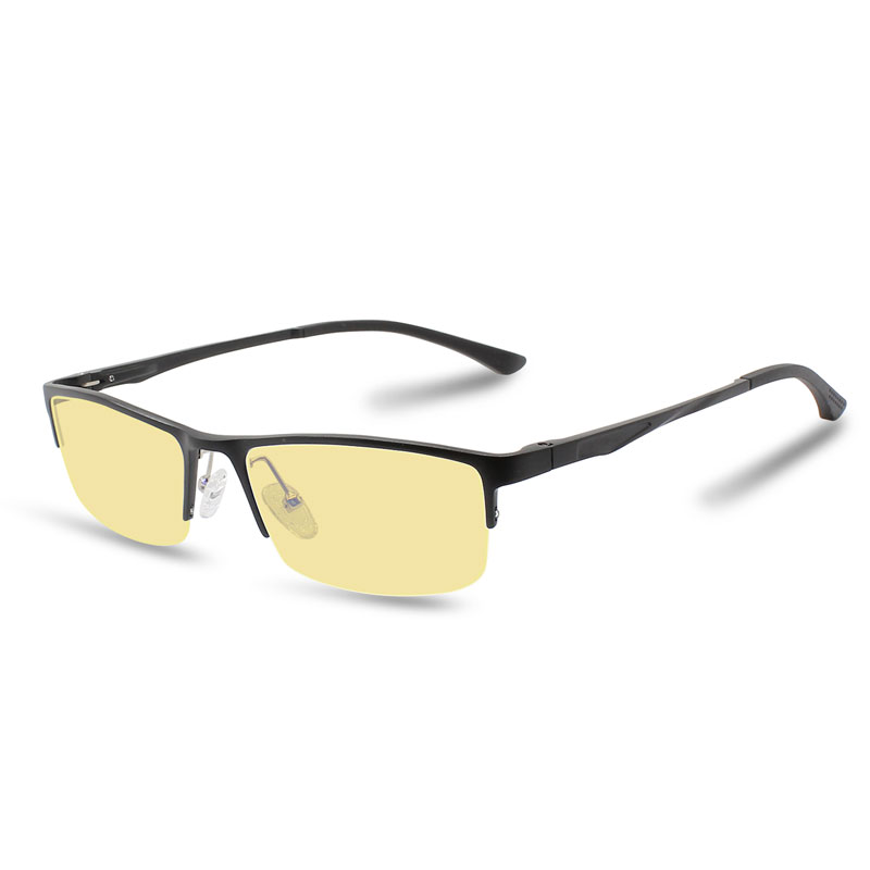 27fefd2988f Men s Computer Glasses Transparent Spectacles Magnesium Aluminum Alloy Fashion  Eyeglasses With Yellowish ...