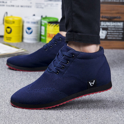 new hightop men shoes breathable men casual shoes laceup